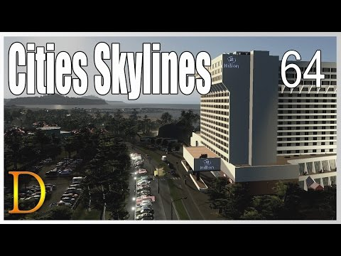 Cities Skylines #64 HILTON ! - Gameplay PL -