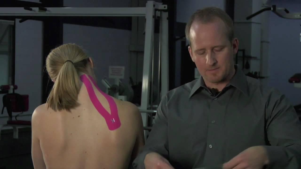 Kt Tape Neck Shoulder Pain Youtube