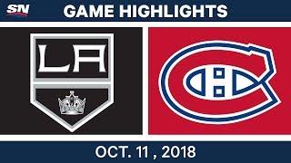 NHL Highlights   Kings vs. Canadiens - Oct. 11, 2018