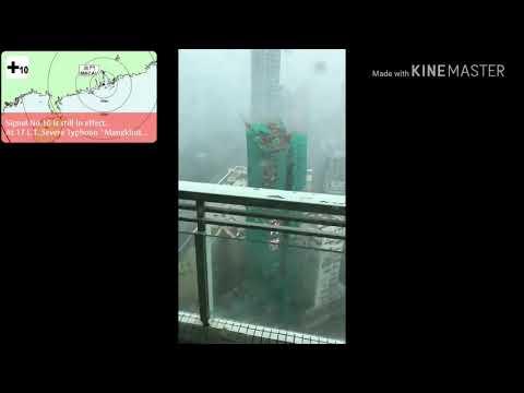 Gabriel trumpet on typhoon mangkhut Hongkong Macau