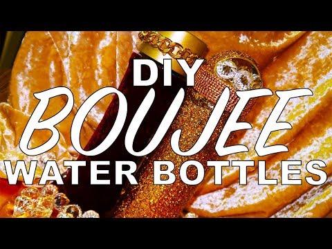 BOUJEE DIY: WATER BOTTLES FOR SCHOOL | BROKE AND BOUJEE