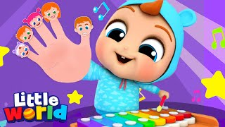Family Finger Song With Musical Instruments | More Little Kids Songs & Nursery Rhymes