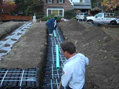 Septic System Absorption Field Install Youtube
