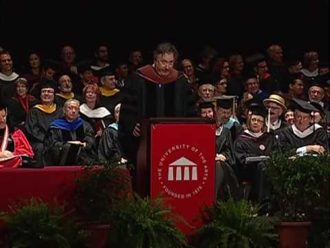 Douglas Carter Beane addresses the University of the Arts class of 2013