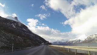 Scenic drive from Finnish Lapland to the Lofoten Islands, Norway