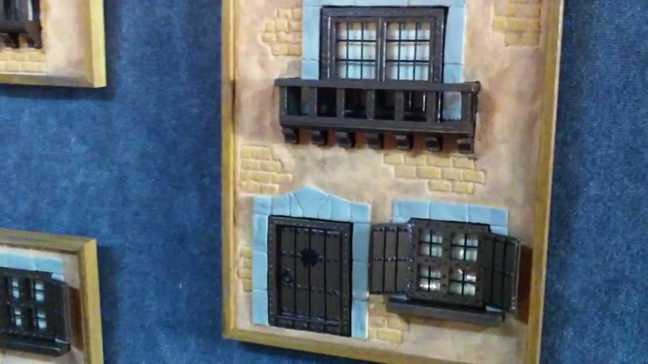Cuadro fachada casa rustica sin marco youtube - Decoracion de casas rusticas ...