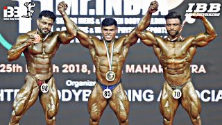 65kg weight category Mr INDIA 2018 - comparison and results