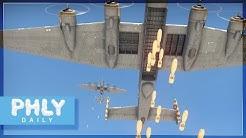 4 Chad Bombers Carpet Bomb a Tank Battle (War Thunder)
