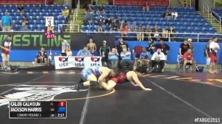 195 Champ. Round 1 - Jackson Harris (Ohio) vs. Caleb Calhoun (Florida)