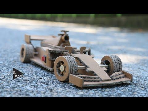 How to make Amazing RC Car (Ferrari F1) - Cardboard Toy Car
