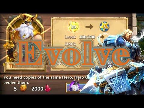Castle Clash Double Evolving Thunder God Level 200