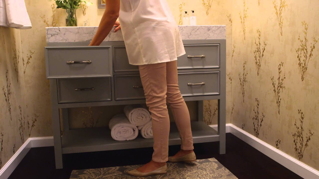 Ronbow Newcastle Vanity In Ocean Gray Finish (Part 2)   YouTube