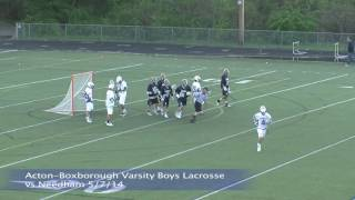 Acton Boxborough Varsity Boys Lacrosse vs Needham 5/17/14
