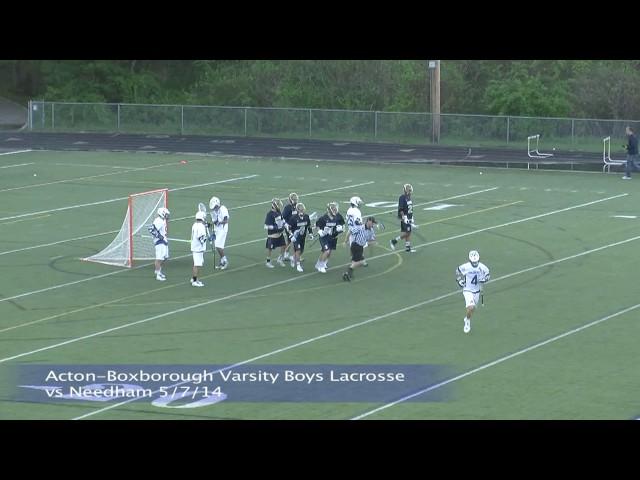Acton Boxborough Varsity Boys Lacrosse vs Needham 5/17/14