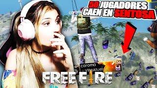 ESTO PASA CUANDO 50 JUGADORES CAEN EN SENTOSA!! FREE FIRE