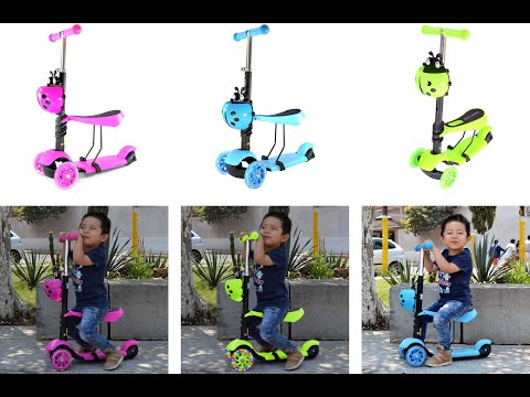 Patin Diablo Scooter Montable 3 Ruedas Luces Led Catarina