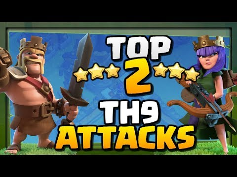 TOP 2 BEST TH9 ATTACK STRATEGIES in Clash of Clans [2018]