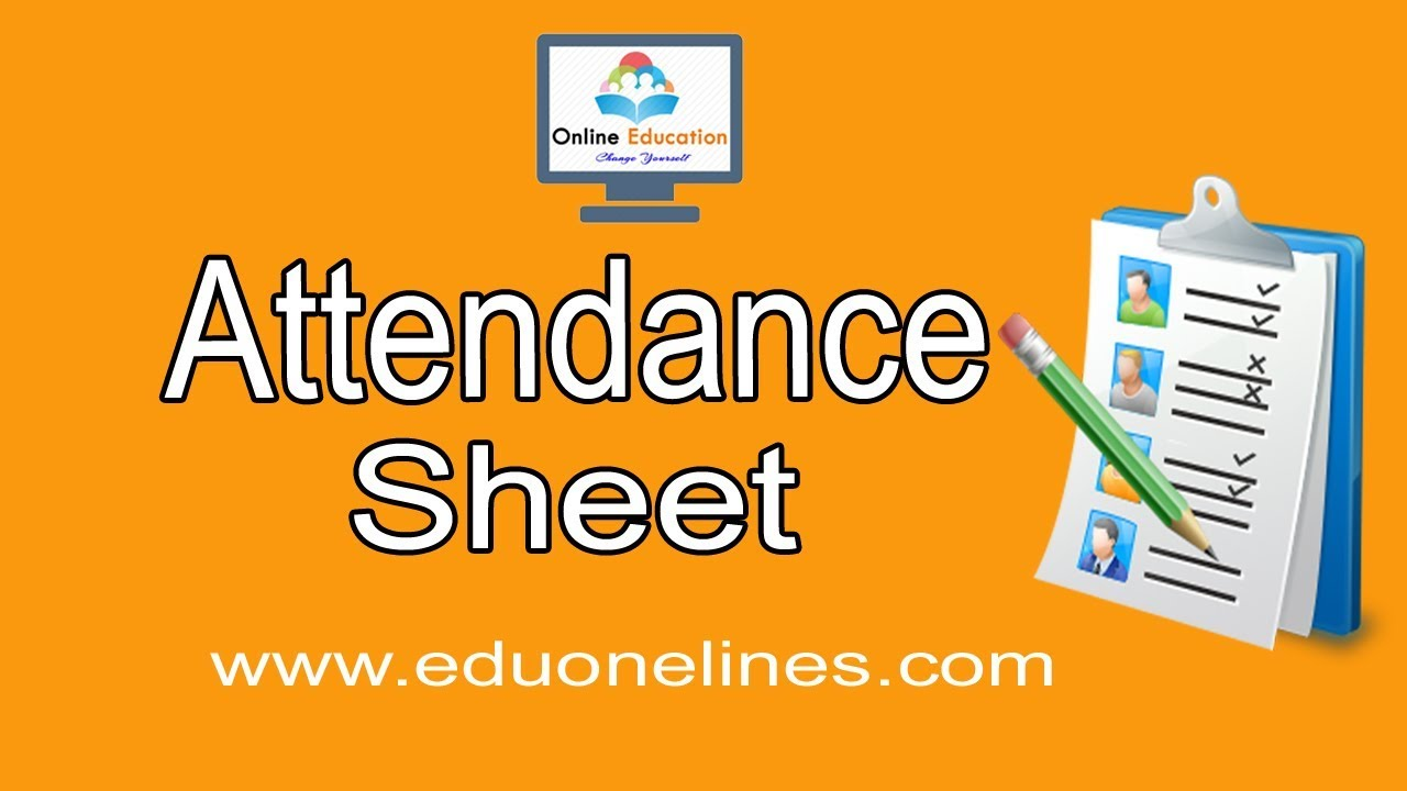 how to create an attendance sheet in excel 2016 youtube