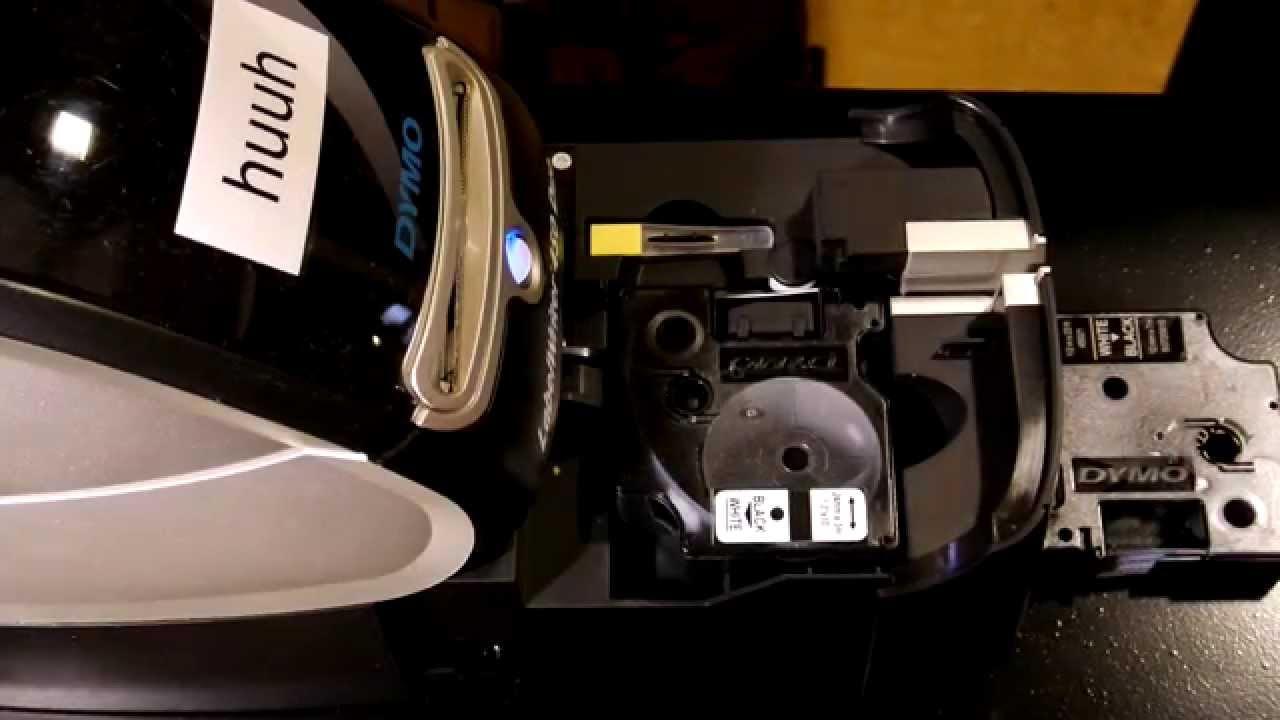 dymo labelwriter 450 duo wechsel der bandetikette youtube. Black Bedroom Furniture Sets. Home Design Ideas