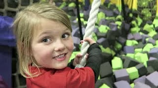 BABY TRAPPED IN TRAMPOLINE PARK!