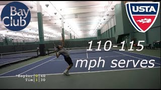 Tennis with Big Server Taylor | USTA NTRP 4.5 Highlights HD