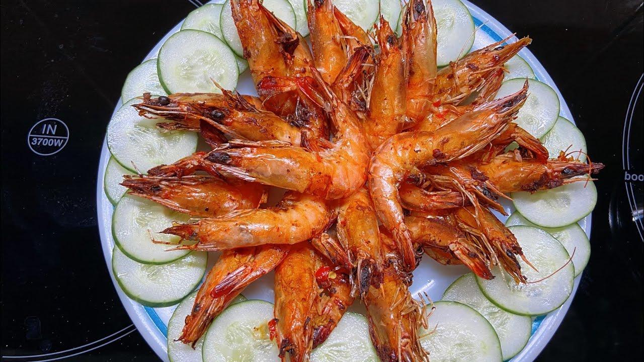 TÔM NƯỚNG MUỐI ỚT BẰNG NỒI CHIÊN KHÔNG DẦU/ Tôm Nướng/ Grilled shrimp | Bếp Nai