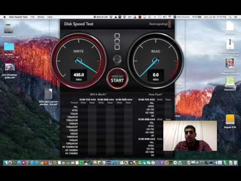 How to test your hard disk speed ?!! Blackmagic Disk Speed Test