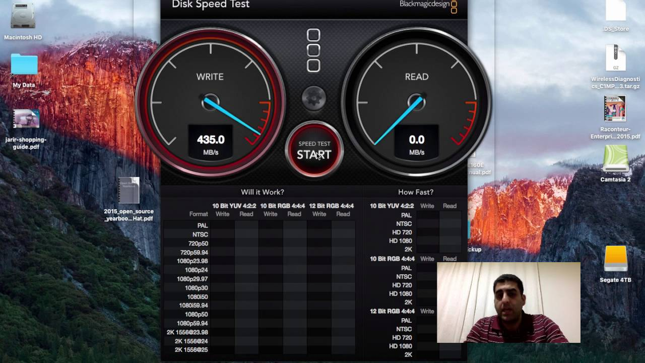How To Test Your Hard Disk Speed Blackmagic Disk Speed Test Youtube