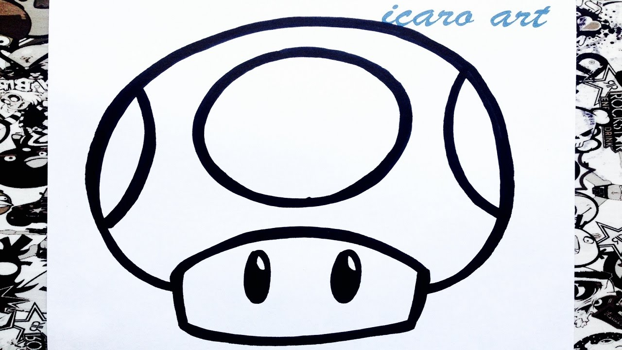 Como Dibujar Un Hongo De Mario Bros How To Draw Mushrooms Mario