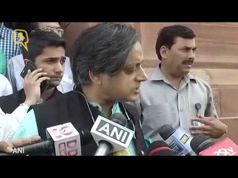 """The Quint: """"What Pak did is a violation of International Law,"""" says MP Shashi Tharoor"""