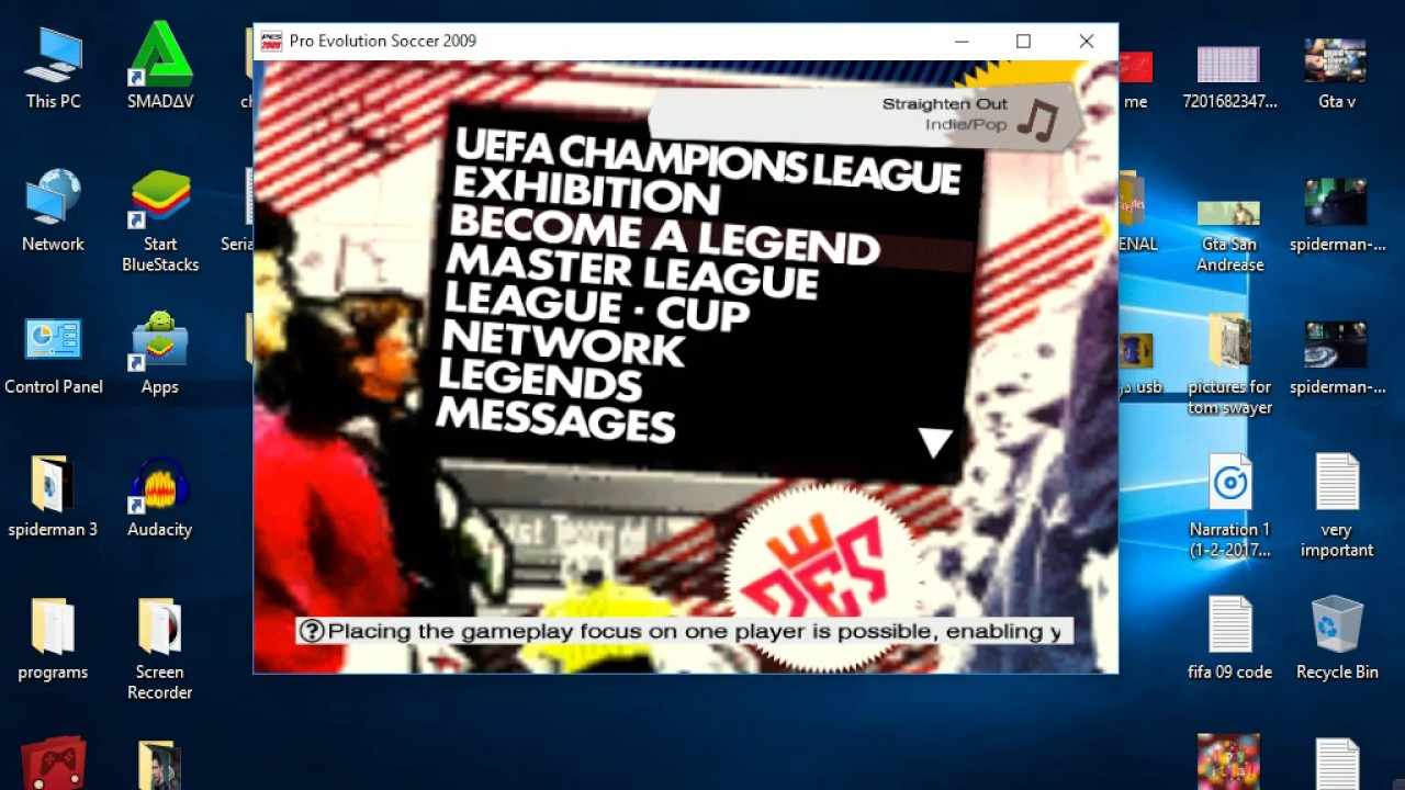 How to hack Become a Legand in pes 2009