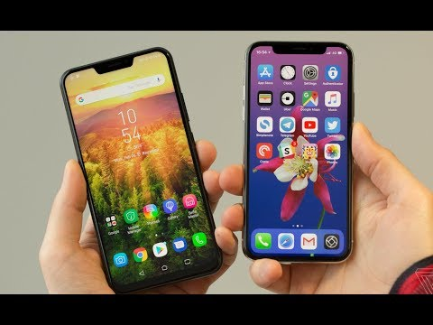 ASUS Zenfone 5 ZE620KL Vs Apple iPhone X || What's Differents ?