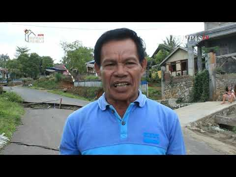Setelah Hujan Lebat, Jalan Penghubung Mobagu-Manado Ambles
