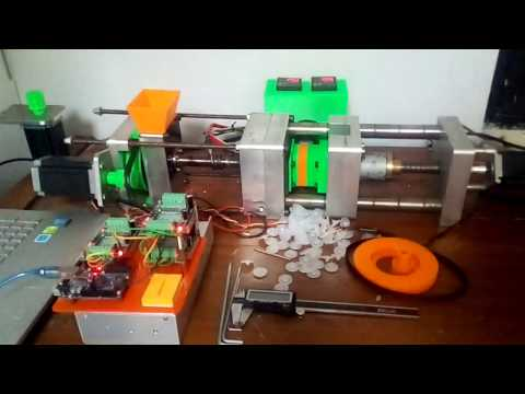Desktop injection support by 3D printed, controlled by arduino Uno