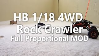 HB 1/18 4WD Rock Crawler - Full Proportional Mod [In Snow]
