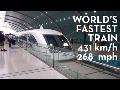 Shanghai Maglev @ 431km/h (268mph) // World's fastest train!