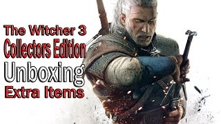The Witcher 3: Collectors Edition UNBOXING (Extra Items) !!