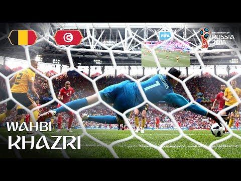 Wahbi KHAZRI Goal - Belgium v Tunisia - MATCH 29