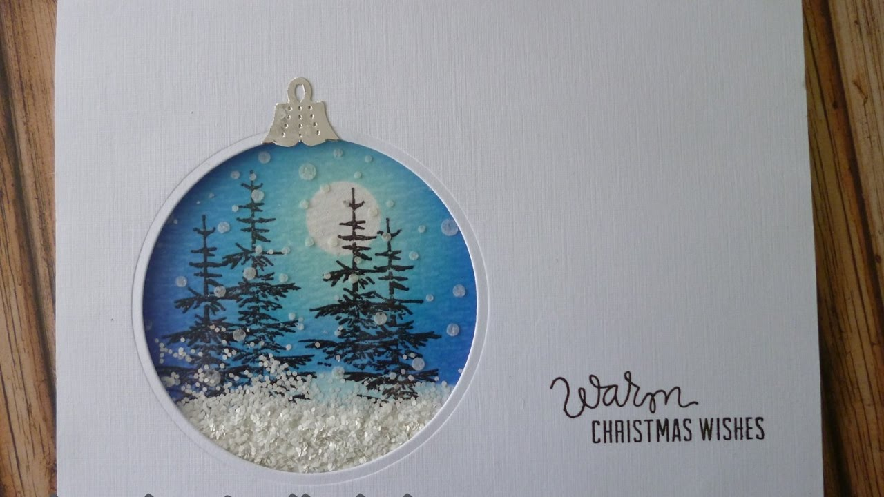 winter scene bauble card youtube