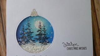 Winter scene bauble card