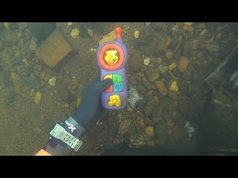 Thumbnail: Found 2 Phones, Knife and Jewelry Underwater in River! (Scuba Diving)