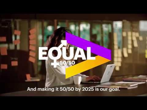 Gender balance is key and making it 50/50 by 2025 is our goa