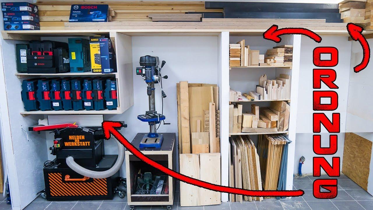 endlich ordnung in der werkstatt werkstattwand bzw regalwand selber bauen youtube. Black Bedroom Furniture Sets. Home Design Ideas