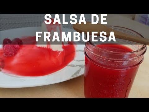 Como hacer salsa de frambuesa o Coulis de frambuesa