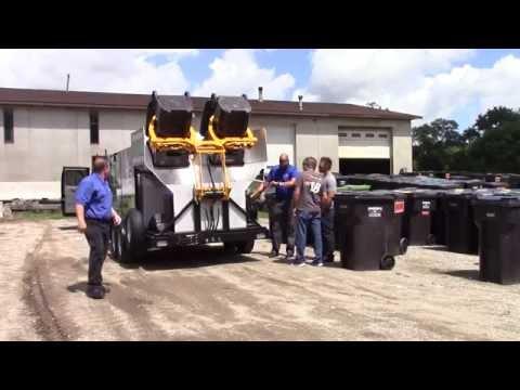 Clean & sanitize 50 wheelie bins / trash carts in 1 hour! up to 400 per day. sales@hcsclean.com