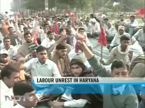 Haryana industrial belt hit by labour strike