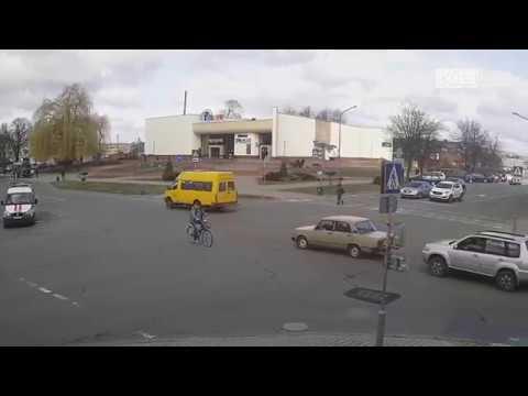 Кобрин. Велосипедисты 3. Пушкина - Дзержинского.