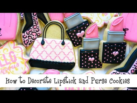 How to Decorate Lipstick and Purse Cookies