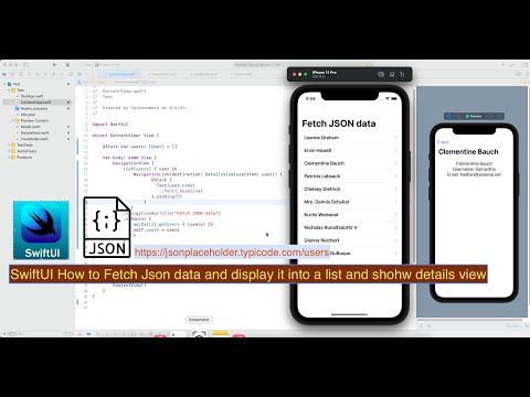 SwiftUI How to Fetch Json Data and Display it Into a List and Show Details View