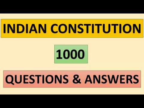 KERALA PSC || INDIAN CONSTITUTION || 1000 QUESTIONS & ANSWERS..